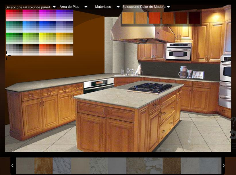 Decorador virtual de cocina sala y ba o para la eleccion for Marmoles y granitos para cocinas